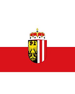Flag: Upper Austria (Oberösterreich)