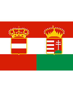 Flag: Civil Ensign of Austria-Hungary 1869—1918