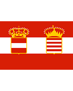 Flag: Naval Ensign of Austria Hungary 1918