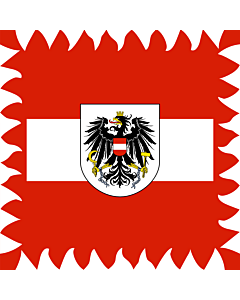 Flag: Former Flag of the President of Austria  used until 1984