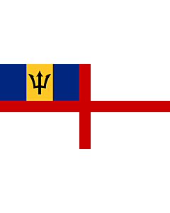 Flag: Naval Ensign of Barbados