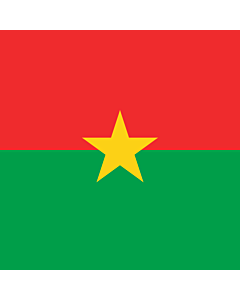 Flag: Presidential Standard of Burkina Faso