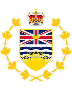 Flag: Crest of the Lieutenant Governor of British Columbia