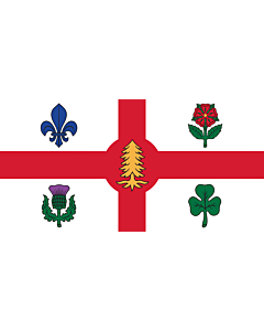 Flag: City of Montreal, Canada