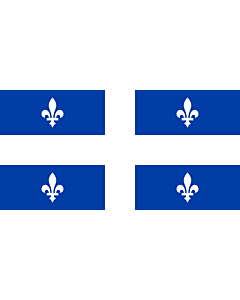 Flag: Quebec with ratio 1 2