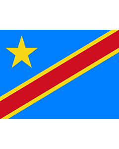 Flag: Congo, the Democratic Republic