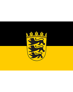 Flag: State flag with lesser arms of Baden-Württemberg