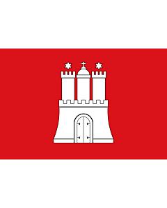 Flag: Hamburg