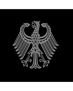 Flag: Bundestrauerstander, Trauerstandarte der Bundesrepublik Deutschland