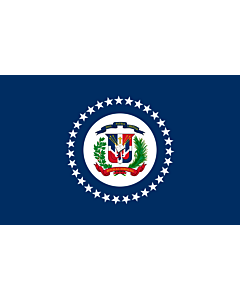 Flag: Naval Jack of the Dominican Republic