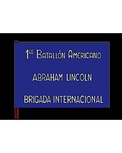 Flag: 1st Batallion  Abraham Lincoln  of the XVth International Brigade