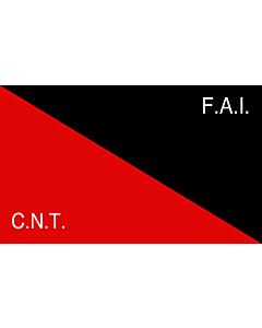 Flag: CNT-FAI   Rossonera utilizzata dalla CNT-FAI  confederaciòn nacionàl de los trabajadores - federaciòn anarquista iberica