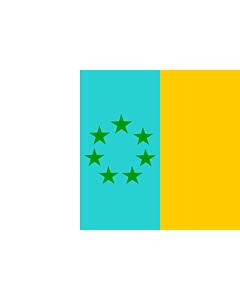 Flag: Siete Estrellas Verdes   Esta es la bandera nacionalista canaria