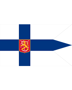 Flag: Finland 1920-1978  Military | Military flag of Finland 1920-1978