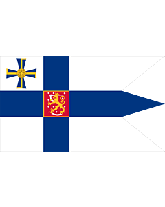 Flag: Swallow-tailed state flag for the president of the Republic of Finland