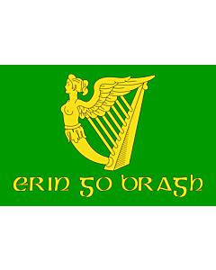 Flag: Erin Go Bragh | Irish nationalist flag   version of Image Erin Go Bragh flag
