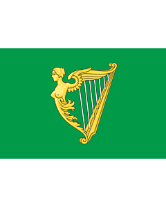 Flag: A traditional green harp flag of Ireland with a slightly different harp from File Arms of Ireland  Historical