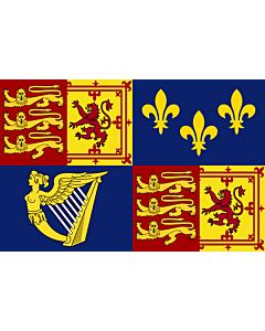 Flag: Royal Standard of Great Britain  1707-1714 | Royal Standard of Great Britain between 1707 to 1714