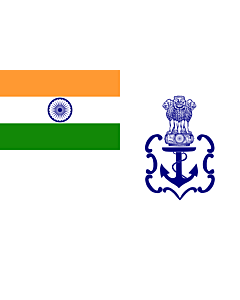 Flag: Naval Ensign of India 2001 04