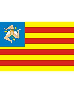 Flag: Frunti Nazziunali Sicilianu (Sicilian National Front), a Sicilian independentist party