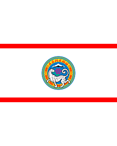 Flag: Official flag of Almaty city in the Republic of Kazakhstan