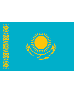 Flag: Kazakhstan