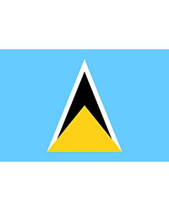 Flag: Saint Lucia