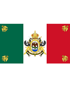 Flag: Second Mexican Empire