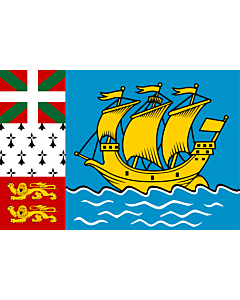 Flag: Saint Pierre and Miquelon