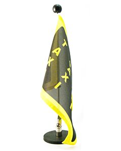 Magnetic Car Flag Pole Diplomat-1 with customized printed flag (right side)