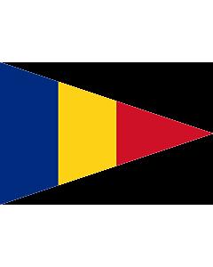 Flag: Romanian Lieutenant Commander  1939