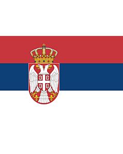 Flag: Serbia