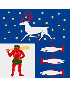 Flag: Västerbotten County