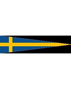 Flag: Swedish naval rank flag for a Division Commander