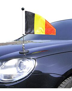 Magnetic Car Flag Pole Diplomat-1.30 Belgium