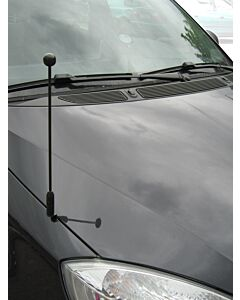 Car Flag Pole Diplomat-Z-Black