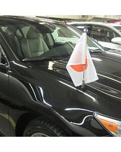 Car Flag Pole Diplomat-Z-Chrome