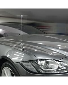 Car Flag Pole Diplomat-Z-Chrome-PRO-Jaguar-XF-X260  for Jaguar XF (X260) (2015-)