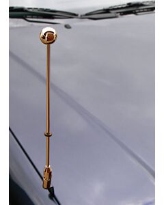 Car Flag Pole Diplomat-Z-Gold